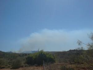 forest fire mojacar sierra cabrera mountain range