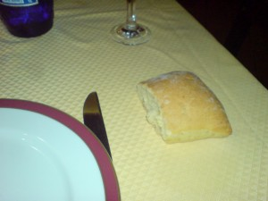 Valladolid restaurant bread on table Valladolid food