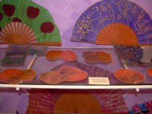 silk fan, spanish fan, silk design
