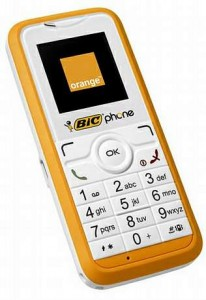 bic mobile phone disposable throw away