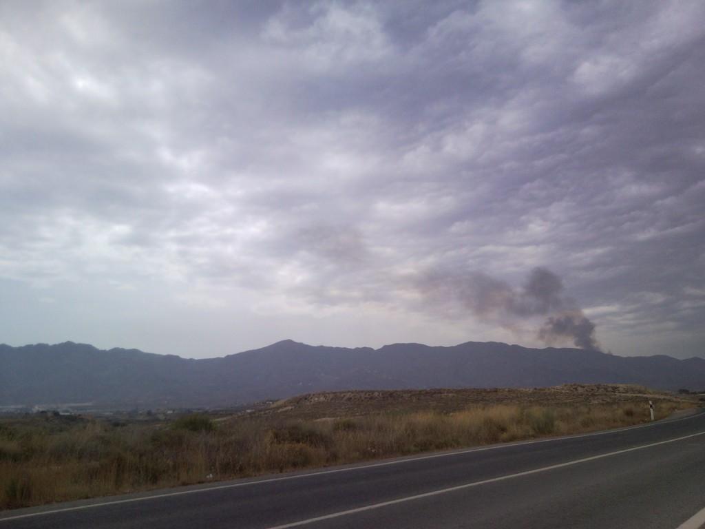 forest fire cabrera turre mojacar almeria
