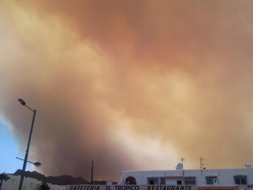 wild fire turre mojacar almeria
