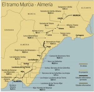 The supposed AVE train line to Almeria