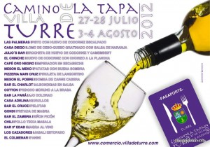 Cartel Camino Tapa 2012 Turre tapas run restaurant bar cafe snack