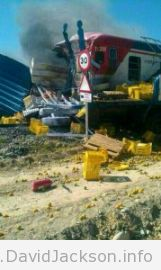 RENFE train hits lorry at crossing in Pulpi