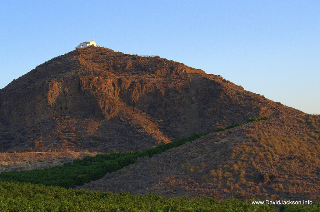 The Ermita Virgen de la Cabeza on top of the Cabezo Maria volcano.