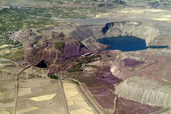Alquife mines aerial view