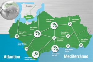 Logistic centres of Andalucia - or the regional infrastructure network
